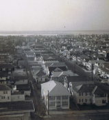 Looking Down From Gardens Plaza Roof Top - 3rd Street - 1973