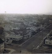 Looking Down From Gardens Plaza Roof Top, Corinthian and Park Place 1973