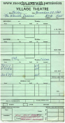 Village Theater Ticket Cashier's Daily Report - November 23, 1963