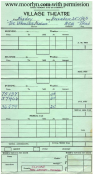 Village Theater Ticket Cashier's Daily Report - November 25, 1963
