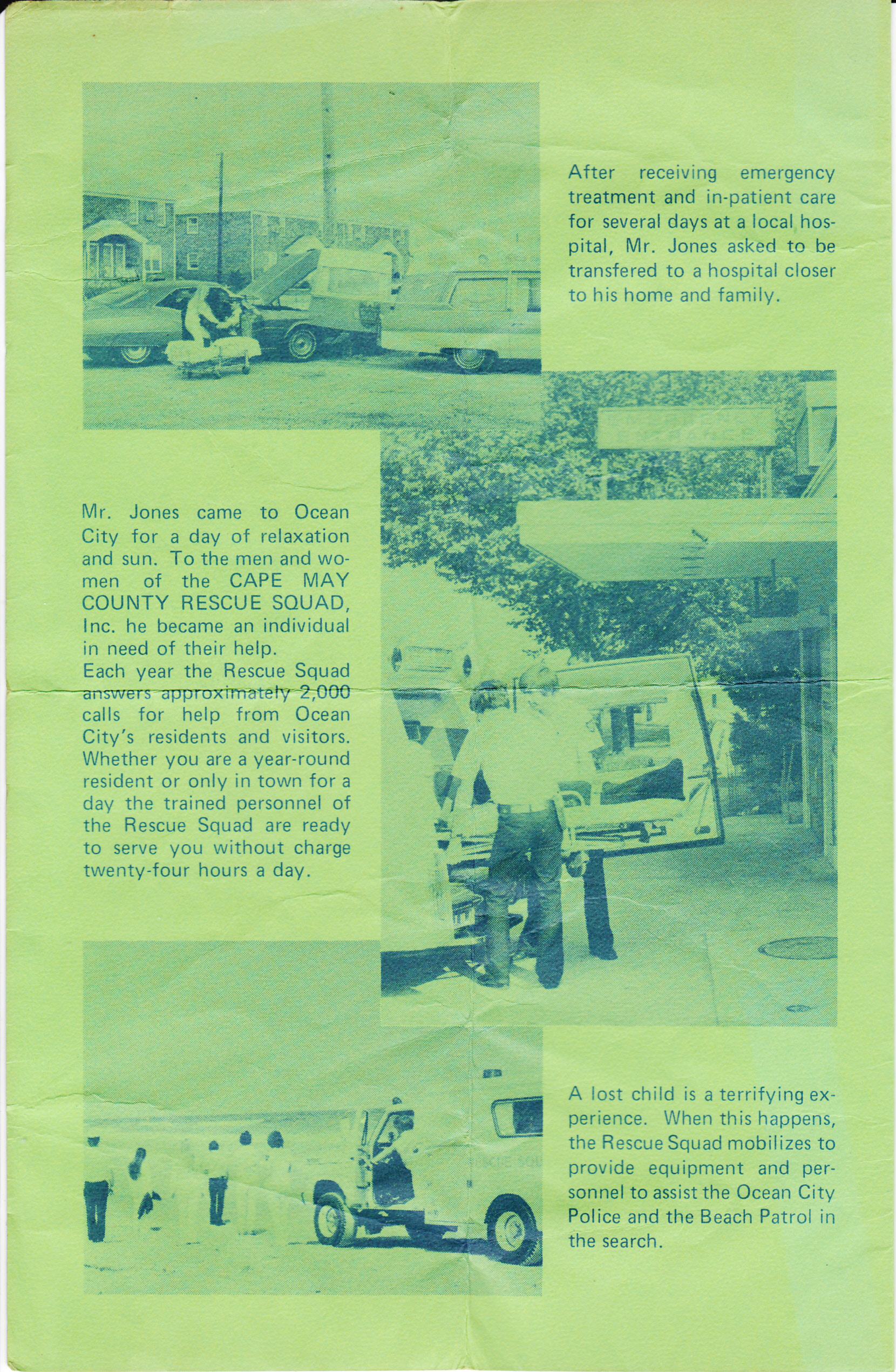 Rescue Squad Brochure 1976 Fund Raiser