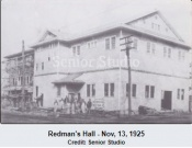 Redman's Hall Under Construction - 1925