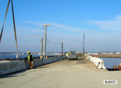 12.15.2006 View of the temporary bridge being used by the contractor across Elbow Thorofare