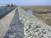 4.3.2007 On Rainbow Island, the swale is being constructed