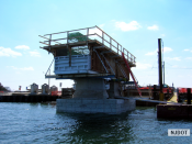 4.10.2007 On Rainbow Island, the pier cap formwork is constructed