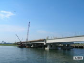 7.13.2007 View of the Route 52 northbound bridge on Rainbow Island