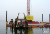 12.14.2006 Preparations are being made for the static load test of one of the piles at Rainbow Channel