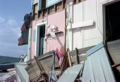 Wescott and Batten Homes. Rear Kitchen and Bathrooms Washed Away - Note Lamp Still Sitting On Pink Shelf
