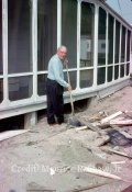 June 23rd, 1962 Maurice Shaw, Sr Shovels Out Sand From Under 5128 To Access Water Pipes