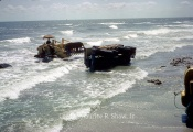 Summer 1962 - 5100 Block Bulkhead Construction - Truck Washed Over During Rising Tide
