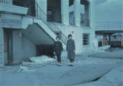 March 1962 - In front of The Delaware Hotel - Note the Shuffle Board